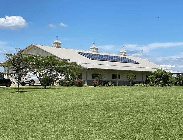 Comfortworks - a Oklahoma solar pole barn project in Jones, OK.