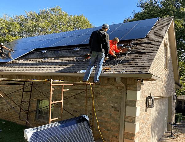Comfortworks - solar installation project in Edmond, OK.