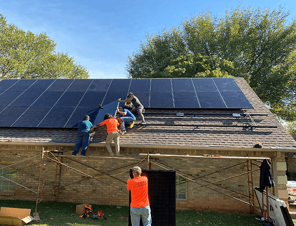 Comfortworks - A solar project in Edmond, OK - retrofitting a solar solution on a residential home.